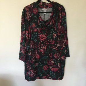 NWT - Comfy Soft Cowl Neck Swing Top 4x